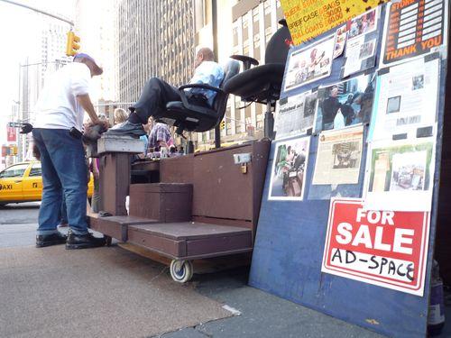 Shoeshine ad space